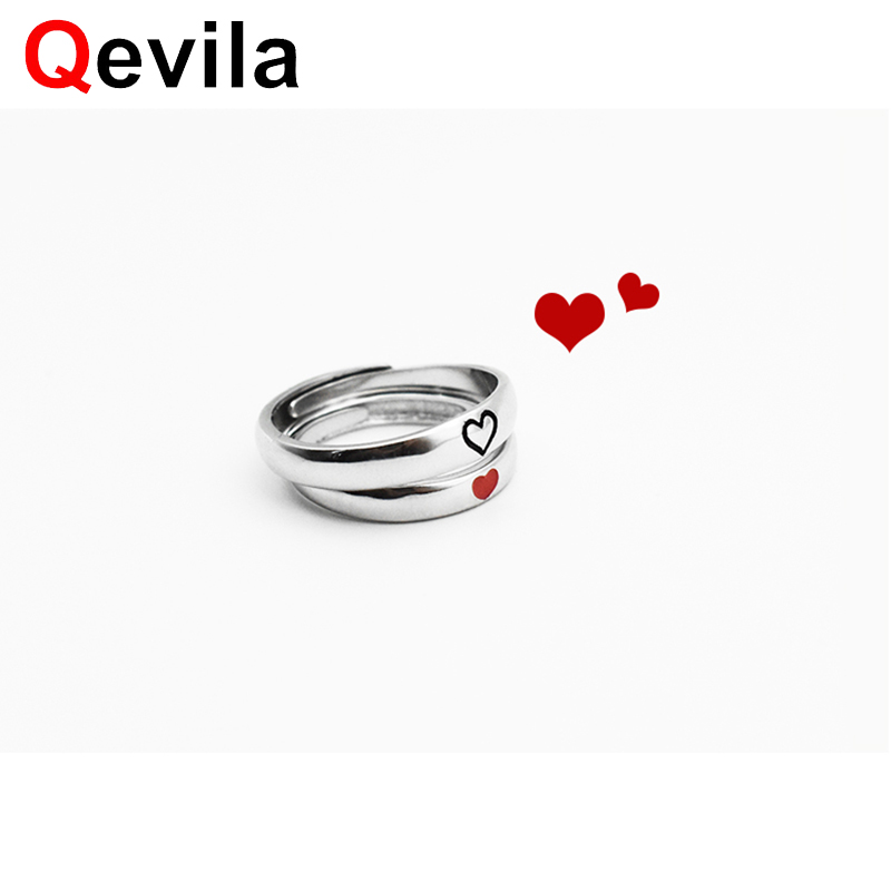 New Women 925 Sterling Silver Open Finger Ring Arrow of Love Red Crystal Jewelry