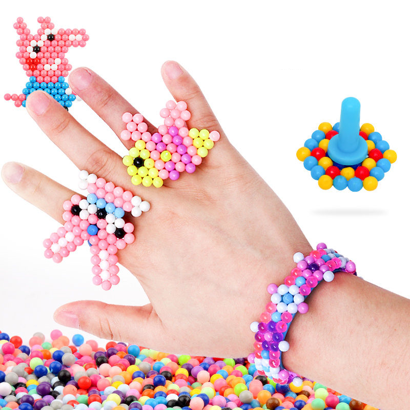 11000pcsChildren Beads for Kids DIY Beads Crystal Creative Material Kids Beads Water Spray Magic Puzzle Toys for Children