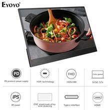 """Eyoyo EM13E 13.3 """"Draagbare Monitor Ips Fhd 1080P Lcd scherm Usb C Hdmi Laptop Tweede Display Voor Pc laptop Telefoon Xbox Schakelaar PS4"""