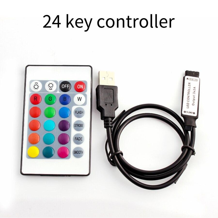 5V RGB Controller DC LED Light strip RGB RF Remote Controller 2835 5050 LED Light colorful rgb controller 3 17 24 key LED lamp