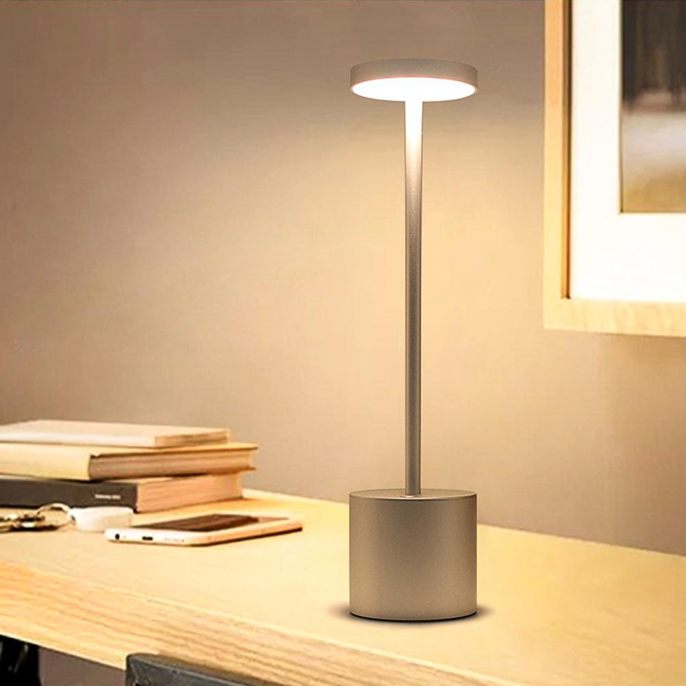 Купить с кэшбэком DishyKooker LED USB Rechargeable Table Light Stylish Night Light with 2-mode Eye-Protect Lamp Gift