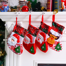 Santa Snowman Pendant Christmas Ornaments New Year Socks Decorations for Home Merry Tree