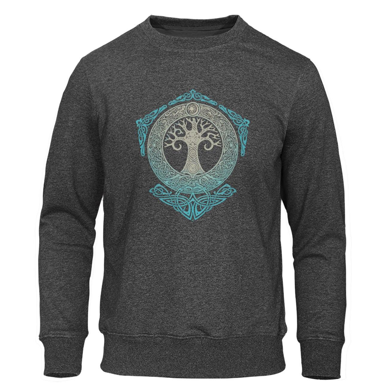 Yggdrasil Pullover World Tree Men Warm Streetwear 2019 Winter Autumn Fleece Hoodies Odin Aesir Nordic Mythology Men's Sweatshirt