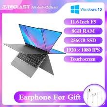 "Teclast F5 laptop 11.6"" Notebook Windows10 8GB RAM 256GB SSD Intel Celeron N4100 360° Rotating 1920*1080 IPS Touch Screen Type C"