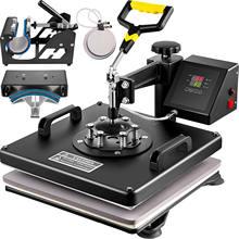 VEVOR 15x15 Inch 5/6/8 in 1 Combo Heat Press Machine Swing Away Sublimation Heat Transfer Printer for Cap Mug Plate T-shirt