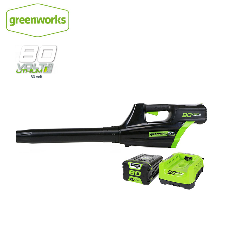 Greenworks Lithium Battery Cordless Leaf Blower 80V 750W Powerful Electric Cleaning Blower Garden Tool Free Return