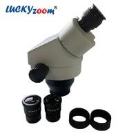 Brand Professional 7X 45X Binocular Stereo Microscope Head Binocular Head For Microscope Eyepiece WF10X/20MM Stereo Microscopio