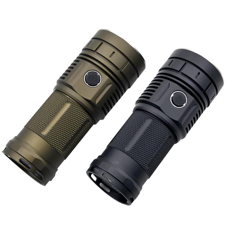 15000 Lumens 4x XHP50 / SST40 / XPL Glare LED Flashlight Type-C USB Charging Super Bright HK04 Outdoor Camping Searchlight