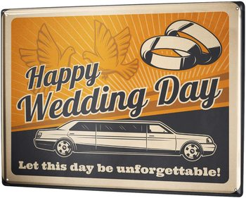 SINCE 2004 tin Sign Wedding Wedding Limousine image