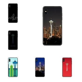 For Huawei Honor Play V10 View Mate 10 20 20X 30 Lite Pro Y3 Y5 Y9 Nova 3 3i Pro TPU Cover Cases Seattle Space Needle image