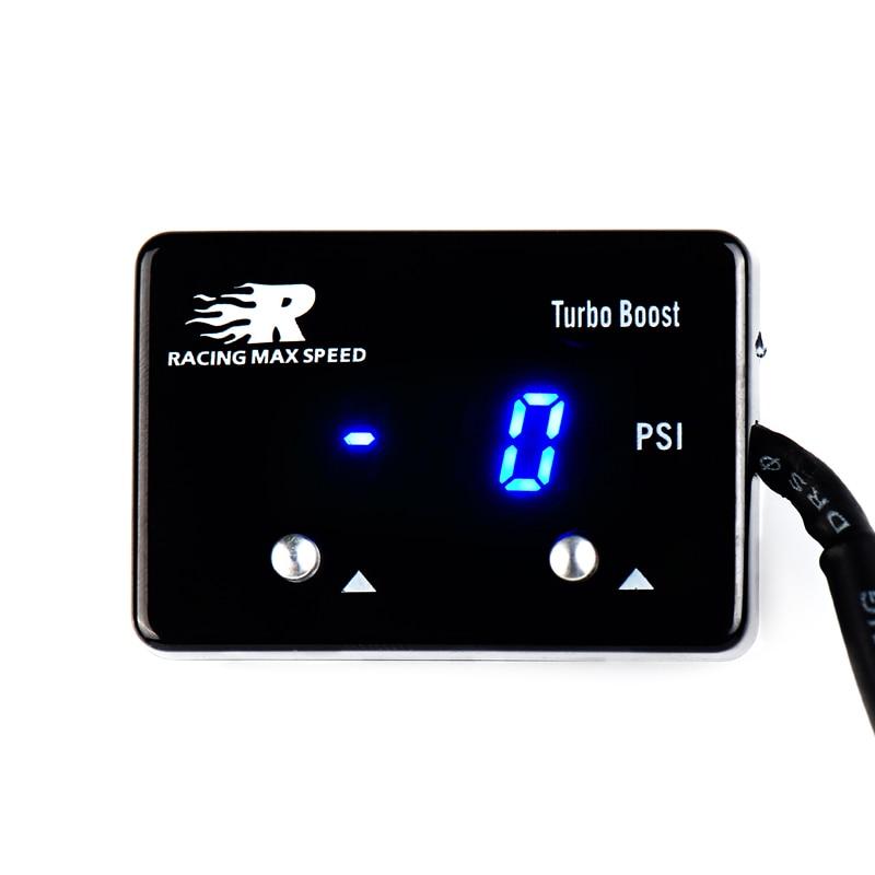 Venta al por mayor, medidor digital de vacío 12v para coche Universal PSI turbo boost, medidor de vacío automático Skyline WRX Evo MPS GTR STI XR6 Dragon gauge 52mm, carcasa negra con retroiluminación azul, Auto Turbo, medidor de presión Turbin de vacío, medidor de impulso, medidor de presión