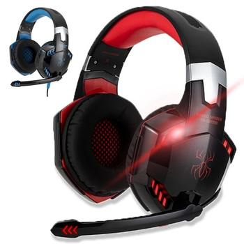 For PC PS4 Laptop Tablet Phone Gamer Headphone With LED Light Computer Gaming Headset Can Adjust Volume Control Mic Music Helmet computer pc gamer headphone with mic led light noise cancel loud sound phone gaming headset for ps4 earphone music stereo helmet