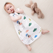 Vest Pajamas Sleeping-Bag Toddler Baby Kids Cotton Children's Sleeveless Summer Print