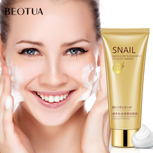 BEOTUA Snail Oil-control Facial Cleanser Anti Aging Breakout Wrinkle Reducing Face Wash for Clear  Reduced Pores Face Cleansing