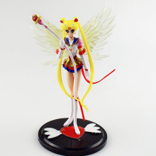 16CM Super Sailor Moon Tsukino Usagi Action Figure Wings Cake Decoration Collection Model Toy Doll Gifts