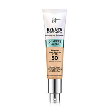 It Cosmetics It Bye Bye Foundation Oil-Free Matte Full Coverage Moisturizer with SPF 50+ Sunscreen Spectrum Physical Anti-Aging 1