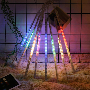 8 Tube Meteor Shower Rain 30cm 50cm Waterproof LED String Lights Outdoor Christmas Garland For Wedding Party Garden Decoration new year 30cm outdoor meteor shower rain 8 tubes led string lights waterproof for christmas wedding party decoration