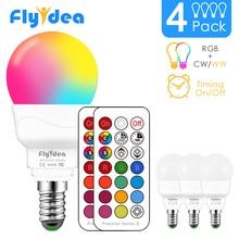 Светодиодсветильник лампочка RGBW, 21 клавиша, инфракрасный контроллер, умная лампочка, многоцветная, с регулируемой яркостью, изменение цвета, светодиодный ночсветильник AC 110 в/220 в
