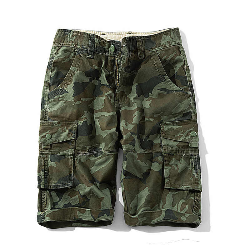 2020 Mens Military Cargo Shorts Sommer Armee Grün Baumwolle Shorts Männer Lose Multi-Tasche Shorts Homme Casual Bermuda Hose 40