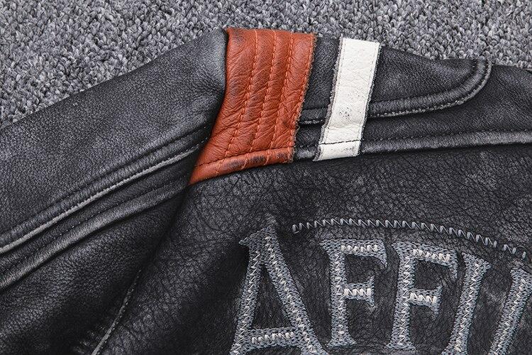 H1dd1ecbb3e534f6e9c1e33712398e550f 2019 Vintage Black Men Leather Motorcyclist Jacket Skull Embroidery Plus Size 3XL Genuine Cowhide Short Biker Coat FREE SHIPPING