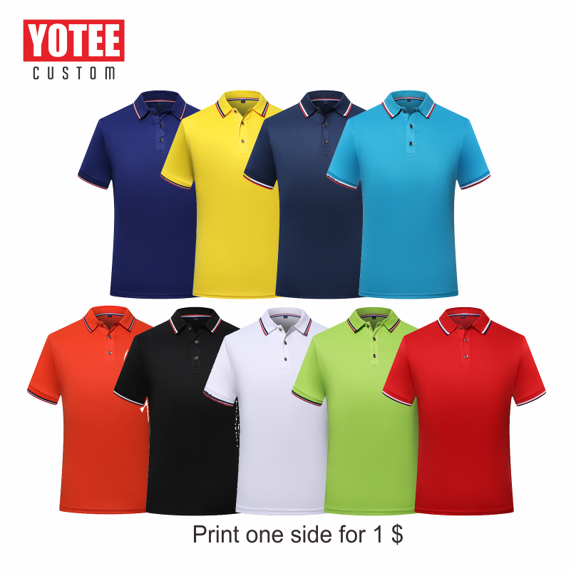 YOTEE 2019 Summer Breathable Short-sleeved Camisa Polo Trend Custom Casual POLO Shirt Men And Women Custom Shirts