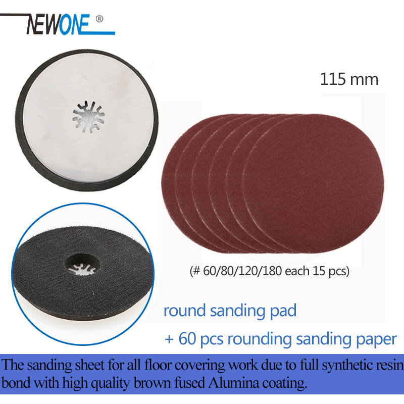Newone Oscillating Multi-tool Sanding Pad Sanding Paper Kits For Power Tools As Fein,TCH,Dremel Etc
