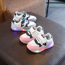 All seasons high quality kids shoes LED lighting running children sneakers classic cute baby girls boys