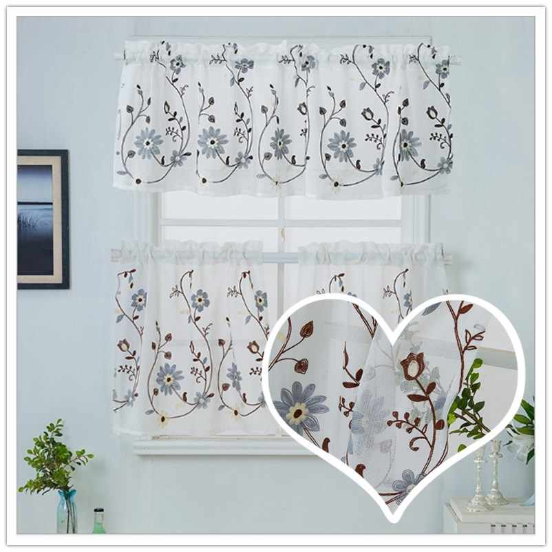 The New Cabinet Curtain Embroidered Curtain Japanese And Korean Style Short Floating Curtains Decorative Door Curtain Curtains Curtain Kitchen Kitchencurtains Pink Aliexpress