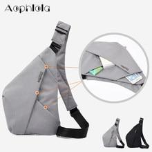 Bolsa de viagem fino, bolsa de ombro à prova de roubo com coldre, antirroubo, bolsa de peito digital de armazenamento