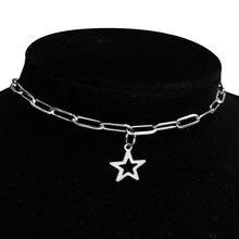 Ожерелье чокер женское из нержавеющей стали готический кулон