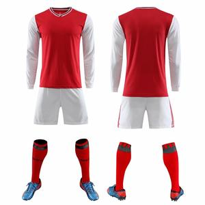 Image 2 - 2019 Long sleeve Children Sets football uniforms boys and girls sports kids youth training suits blank custom game soccer set