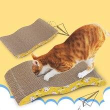 Deluxe Cat Toys rascador para gatos Pad rascador gatito rascador de papel corrugado gatos uña rascador estera colchón regalo hierba gatera orgánica