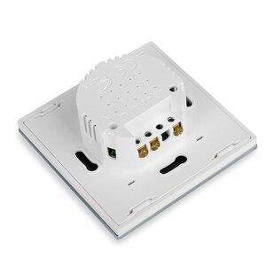 Image 5 - Vovoway EU touch schalter licht schalter RF Wireless fernbedienung 1s 2s 3Gang AC110V 220V Wand post touch installation