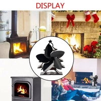 Christmas Tree Themed Heat Powered Stove Fan for Log Wood Burners 5 Blades Heater Stove Fan|Exhaust Fans| |  -