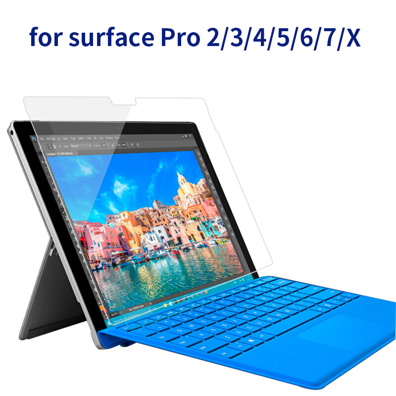 Tempered Glass For Microsoft Surface Go Pro 3 Pro 4 Pro 5 6 7 X Screen Protective Film Scratchproof Tablet Screen Protector