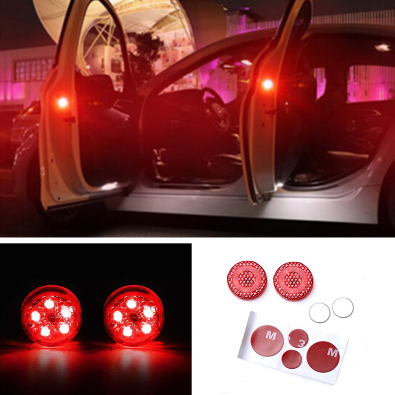 2x <font><b>LED</b></font> Car Door Warning Lights Accessories Sticker For <font><b>Mazda</b></font> 3 6 5 Spoilers CX-5 CX 5 <font><b>CX7</b></font> CX-7 CX3 CX5 626 M3 M5 MX5 RX8 Atenza image
