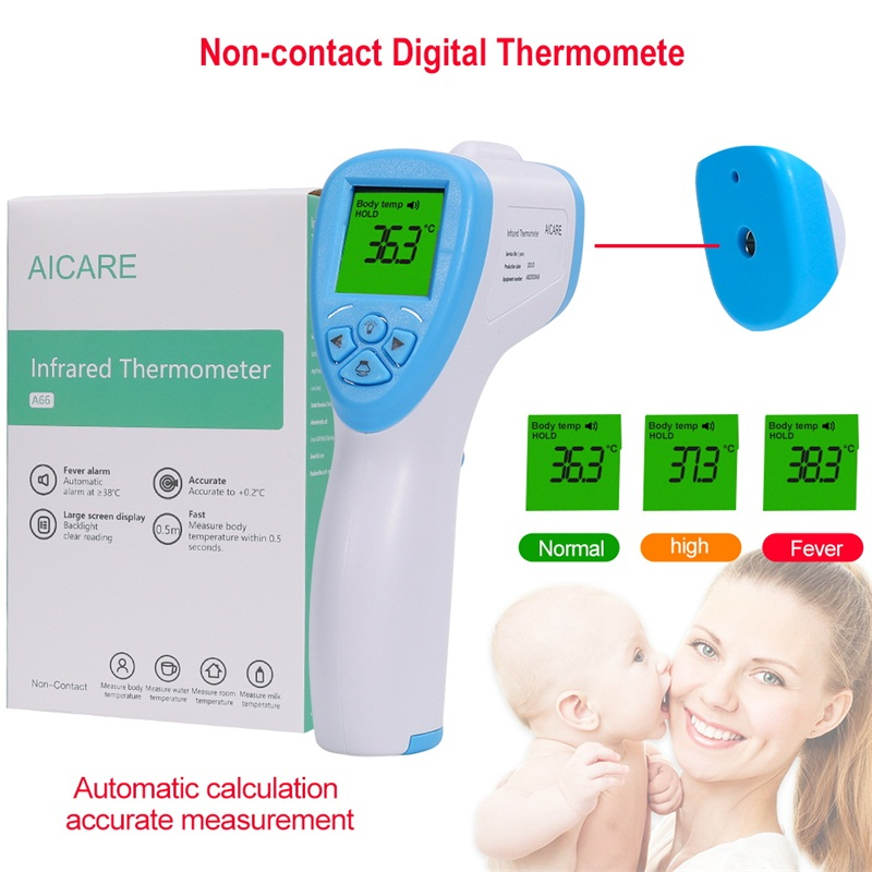 Blue-white Color Portable Non-Contact LCD IR Laser Infrared Digital Temperature Thermometer Gun Handheld Thermometer For Human
