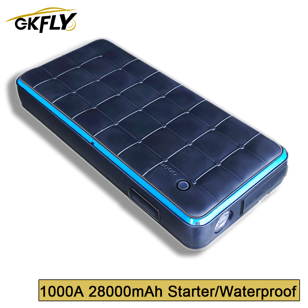 GKFLY Waterproof Super 28000mAh <font><b>1000A</b></font> <font><b>Car</b></font> <font><b>Jump</b></font> <font><b>Starter</b></font> Power Bank Starting Device 12V Charger For <font><b>Car</b></font> Battery <font><b>Starter</b></font> Booster CE image