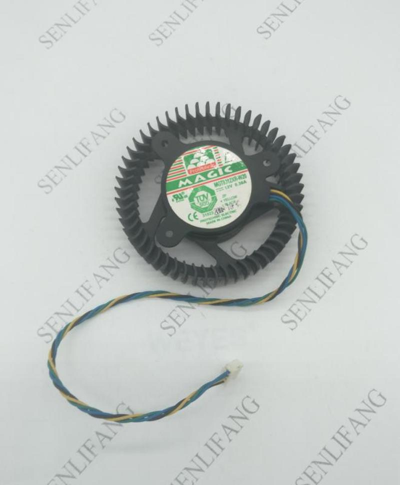 For MGT8012YB-W20 12V 0.48A 4 Wires 4 Pins Vga Fan Graphics Card Cooler Free Shipping