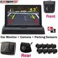 Koorinwoo Auto Reverse Video Parking Radar Voorste Sensor Rear View Security System Sound Buzzer Alert Alarm voor Camera Auto Monitor