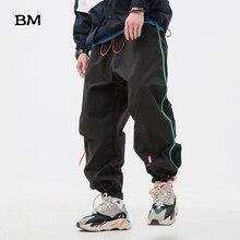 Sweatpants Men Clothing Running Joggers Korean-Clothes Streetwear Loose Striped Sport