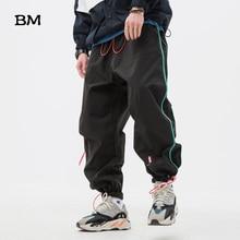 Streetwear Clothing Running Sweatpants Men Striped Loose Spo