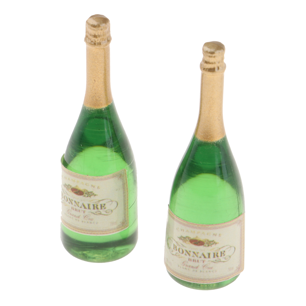 Dollhouse Miniatures Bottles Miniature Champagne Bottles Food Collectibles For 1/12 Dolls House Life Scene Ornament