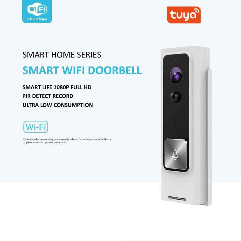 Tuya Smart Life CCTV WiFi Hand-Free Smart Video Doorbell Intercom Camera BATTERY Home Defence Night Vision