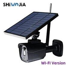 SHIWOJIA 2MP FHD Solar Panel Security Camera WI-FI IP Camera Outdoor Waterproof Surveillance IR Night Vision Wireless Camera
