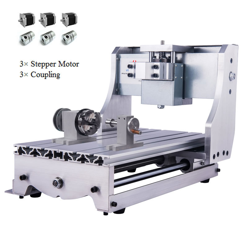 DIY CNC Frame 3020 With Nema 23 Stepper Motors 3Axis 4AXis For CNC Milling Engraving Machine 30x20cm