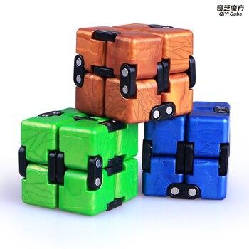 цена на QiYi Crazy Cube 2x2 Endless Magic Cube Infinite Cube Antistress 2 Layers Cube Puzzle Speed Strange-Shape Cube Toys For Children