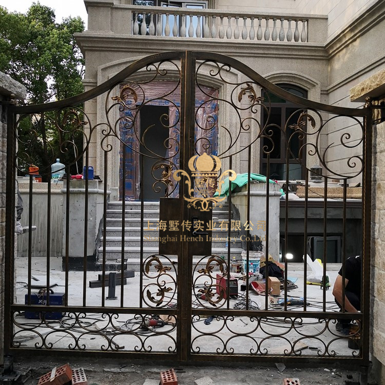 Forged Wrought Iron Gates Designs Whole Sale Wrought Iron Gates Metal Gates Steel Gates Hc-g28