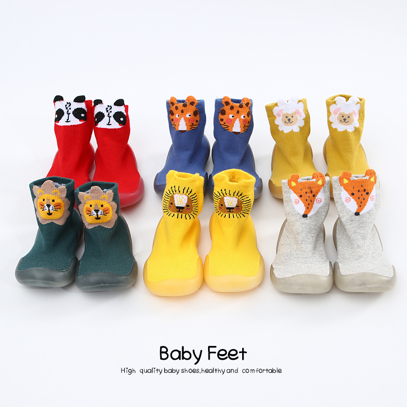 Baby Girl Baby Boy Sock Shoes Soft Rubber Sole Shoe Unisex Baby Shoes Anti-slip Spring Cartoon Shoes
