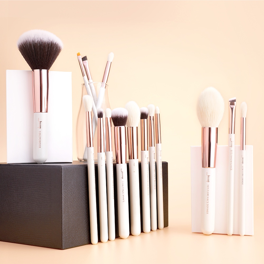 Image 5 - Jessup Beauty Makeup Brushes Kit 15pcs Natural synthetic Hair pinceau maquillage Blending Powder Liner Cosmetics Tool T222jessup brushesprofessional makeup brushesset makeup brushes -